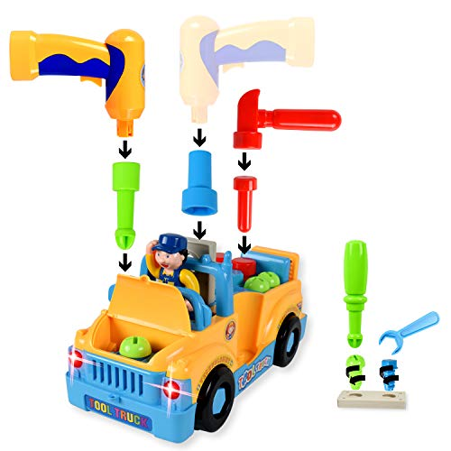 WolVol Truck Tools Toy Equipped with Electric Drill and...