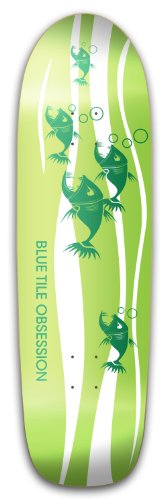Blue Tile Obsession 'BTO Pool Square Tail Skateboard Deck, 9.0 x 32.5-Inch/15-Inch WB, Green/White
