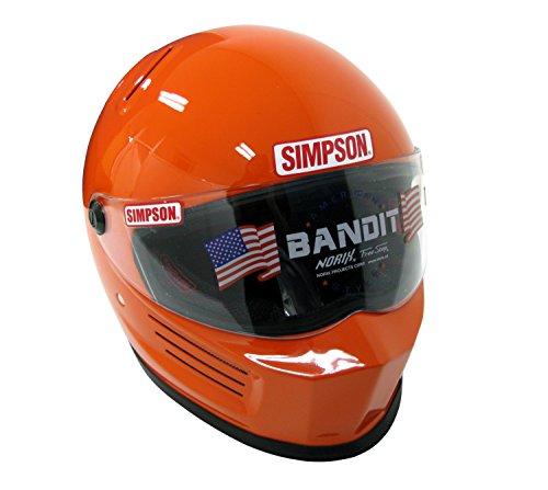 SIMPSON(シンプソン) バイクヘルメット フルフェイス BANDIT オレンジ 58cm 3310175800