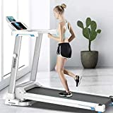 Folding Electric Treadmill LCD Display Motorized Running 2.0HP Treadmills Home Gym Workout...