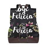 Yuanmeiju Mochila de Cuero Rucksack Art Felicia Flower Daypack Bags for Girls Boys