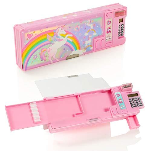 Astuccio stile Schoolz Unicorn Pop Out School - Set di cancelleria multifunzione per ragazze