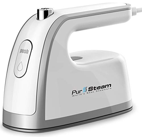 Travel Steamer Iron Mini - 30% More Steam Than Others. Dual Voltage 800W Lightweight, Best for Travel and Quilting Iron with Anti Slip Handle and Non-Stick Soleplate