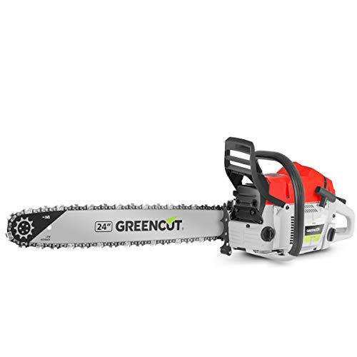 Greencut GS7500 Motosega a Benzina 75cc 4.8cv, 24' Lama, Abbattimento e Potatura, 0 V, Rosso, 75 CC