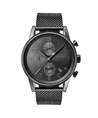Hugo Boss Herren Quarz Armbanduhr mit Edelstahlarmband 1513674