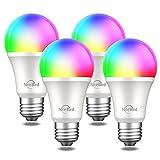 NiteBird Smart Light Bulbs Works with Alexa Echo Google Home and Siri, WiFi Dimmable Color Changing...
