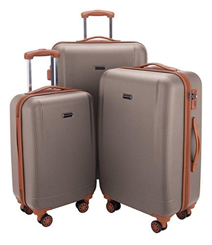 HAUPTSTADTKOFFER - Wannsee- Set 3 Bagagli Rigidi, valigie cabina, media, grande (S, M & L),...
