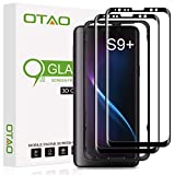 Galaxy S9 Plus Screen Protector Tempered Glass (2 Pack), OTAO 3D Curved Dot Matrix [Full Screen Coverage] Glass Screen Protector for Samsung Galaxy S 9 Plus with Installation Tray [Case Friendly]