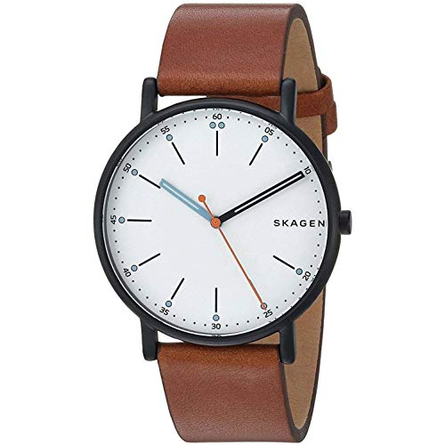 Skagen Herren Chronograph Quarz Uhr mit Leder Armband SKW6374