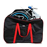 Huntvp Folding Bike Travel Bag Bicycle Transport Carrying Case with a Carry Bag for 14-20inch Folding Bike Foldaway Bicycle (Red)