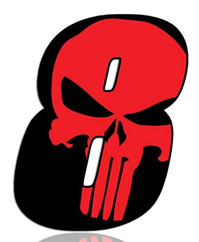 Biomar Labs® Número 8 Punisher Calavera Vinilo Adhesivo Pegatina Coche Auto Motocross Moto Sport Start Racing Tuning N 358