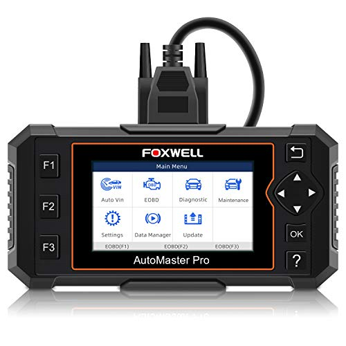 FOXWELL NT614 Elite OBDII Car OBD2 Scanner Diagnostic Tool Transmission Engine ABS Airbag Code Reader EPB Scan Tool with Maintenance Light Reset Free Carrying Case (NT614 Enhanced Version)