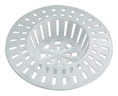 Home Xpert 2er Set Abflusssieb, Spülbeckensieb, Sieb für Dusche, Haarfangsieb, Haarsieb, Ø 60 mm, weiß