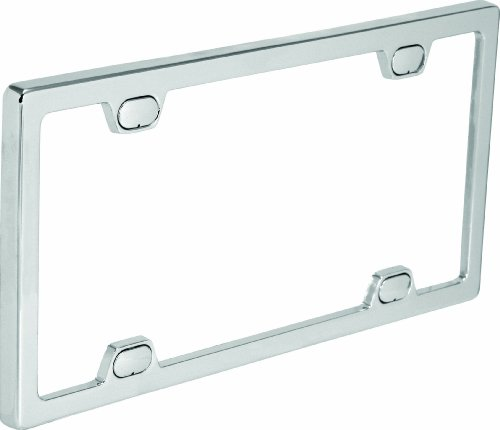 Bell Automotive 22-1-46092-8 Universal License Plate Frame with Clear Cover, Chrome