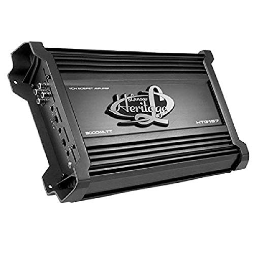 Lanzar Amplifier Car Audio, Amplifier Monoblock, 1 Channel, 3,000 Watt, 2 Ohm, MOSFET, RCA Input,...