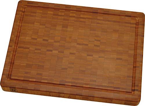ZWILLING 30772-400-0 Tagliere, Acciaio Inossidabile, bambù, 42 cm x 31 cm