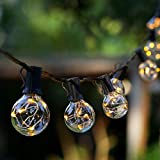 Outdoor Patio String Lights - Novtech 58FT 50Bulbs Waterproof LED Outdoor String Lights - Plug in G40 Decorative Globe String Lights for Backyard Pergola Party Bistro Porch Cafe - UL Standard