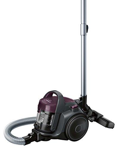 Bosch Série 2 Aspirateur sans sac BGC05AAA1 – Aspirateur au format ultra compact et poids léger, avec filtre hygiénique lavable et haute performance d'aspiration – Couleur : Violet