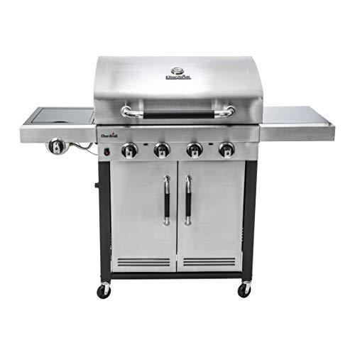 Char-Broil Advantage Series 445S - Barbecue in acciaio inox a 4 bruciatori con bruciatore laterale.