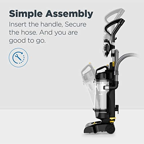 eureka PowerSpeed Bagless Upright Vacuum Cleaner, Pet Turbo, Black 20