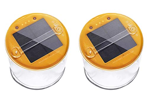 Lucid 2 Pack Inflatable Solar Light Reliable Camping and...