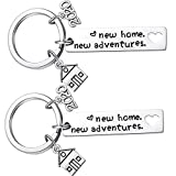 2PCs New Home Keychain 2020 Housewarming Gift for New Homeowner House Keyring Moving in Key Chain New Home Owners Jewelry from Real Estate Agent