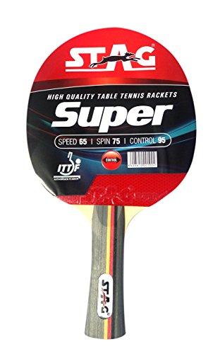 Stag Super Table Tennis Racquet( Multi- Color, 174 grams, Intermediate )