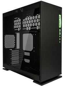 InWin 303C/Black Type-C Gen 2 RGB LED ATX Mid Tower with Tempered Glass Computer Chassis Case