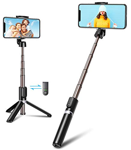 Bovon Perche Selfie Bluetooth, 3 en 1 Mini Trépied Smartphone Extensible...