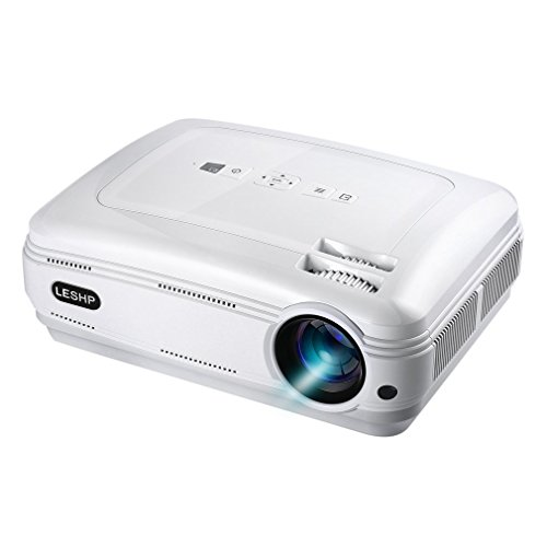 LESHP プロジェクター 3200lm 1080P 1920x1080最大解像度 台形補正 日本語説明書 BL58【PC用品特集】