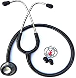 Dr. Head Care Plus Premium Quality Dual Head Stethoscope for doctors, Medical Students, Physicians, Cardiology and Nurse (Black)