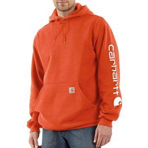 Carhartt Men's Big & Tall Midweight Sleeve Logo Hooded Sweatshirt