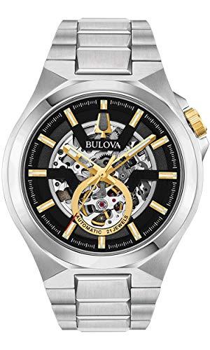 Bulova Reloj Analógico para Hombre de Automáticamente con Correa en Acero Inoxidable 98A224