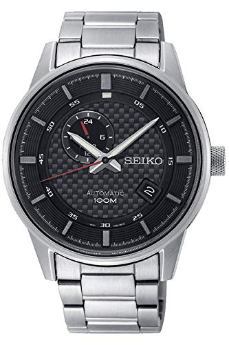 Seiko Herren Analog Automatik Uhr mit Edelstahl Armband SSA381K1