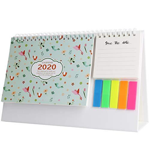 August 2019-Dezember 2020 Mini Schreibtischkalender To-Do-Liste Täglicher Memo Kalender für Home Desk Ornaments Flamingo