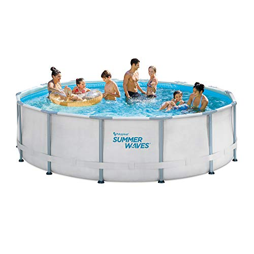 14ft Elite Frame Pool with Filter Pump, Cover, and Ladder