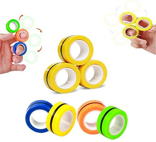 AHEYE Finger Magnetic Ring - Fidget Spinner, Sensory Toys,...