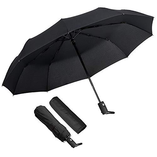 KASTEWILL Parapluie Pliant, Parapluie Pliable Noir Automatique Ouverture et...