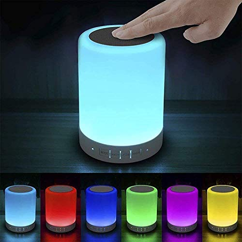 Elecstars Touch Bedside Lamp - with Bluetooth Speaker,...