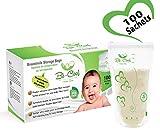 Sachets de Conservation du Lait Maternel, Lot de 100 Sacs de Conservation Pré-stérilisés Sans BPA, 210ml