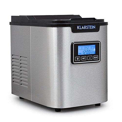 Klarstein Icemeister - Ice Maker, Macchina del ghiaccio, 12 kg/24 h, 150 Watt, 3 dimensioni del...
