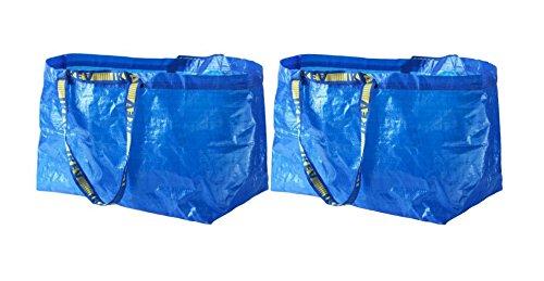 IKEA FRAKTA Carrier Bag, Blue, Large Size Shopping Bag 2 Pcs Set
