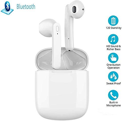 Auricolari Bluetooth 5.0 Auricolari Senza Fili, IPX5 Impermeabile 24H Playtime Vero Wireless Cuffie Sport,riduzione del rumore stereo 3D HD, per cuffie iPhone/Android/ios. Pro/Android/iPhone/Samsung