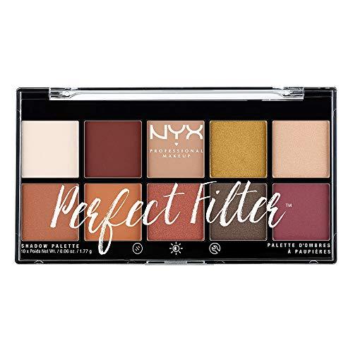 NYX Professional Makeup Paleta de sombras de ojos Perfect Filter Shadow Palette Tono 2...