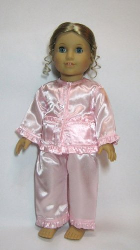 Jiminee's Doll Clothes Pink Satin Pajamas. Fit 18 Dolls Like American Girl