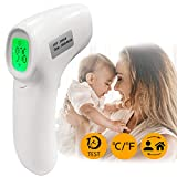 Forehead Thermometer, Non-Contact Digital Thermometer with Fever Alert Function, Home Medical Infrared Thermometer for Baby, Adults and Surface of Objects