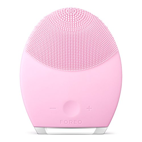 FOREO LUNA 2 Facial Cleansing Brush and Portable Skin Care device made with Ultra Hygienic Soft Silicone for Every Skin Type USB Rechargeable Normal Skin