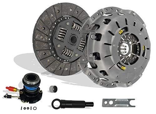 Clutch And Slave Kit Set Compatible With Ranger B2300 B2500 B3000 Bse Xl Xlt Limited Sport Stx Ds 1995-2011 2.3L L4 Gas Dohc 2.5L Gas Sohc L4 3.0L V6 Gas Ovh (Self-Adjusting Clutch Cover; 07-116S)