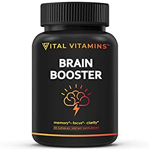 High quality nootropic - our brain supplement may help enhance cognitive function through key nutrient supplementation. Each nootropic capsule contains highly effective ingredients that may help improve memory, focus, mental clarity and alertness. Al...