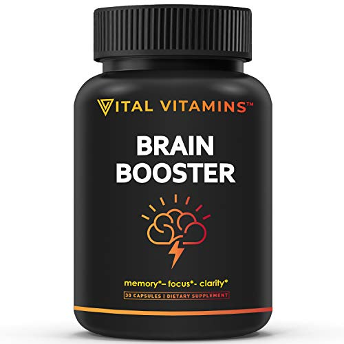 Brain Supplement Nootropics Booster - Enhance Focus, Boost...